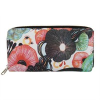 "Poketo Yellena James ""Flourish"" Canvas Zip Wallet"