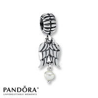 Pandora Dangle Charm Cultured Pearl Angel Sterling Silver