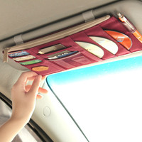 Sun Visor Zipper Pocket