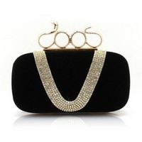 Luxury Small Clutch Purse Bag Studded with Sparkly Rhinestones
