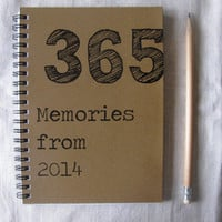 365 Memories from 2014- 5 x 7 journal