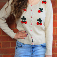 sirenlondon — Sweet Strawberry Cardigan
