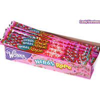 Wonka Valentine Nerds Rope Candy Packs: 24-Piece Box | CandyWarehouse.com Online Candy Store