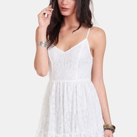 White Noise Lace Dress | Threadsence