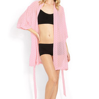 Sweet Dot Chiffon Robe