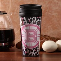 Boston Bruins 16oz. Cheetah Acrylic Tumbler with Lid