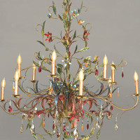 Jay Strongwater - &quot;Thea&quot; Chandelier, Large - Horchow