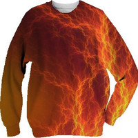 Fire and Lightning - Sweatshirts by Lyle Hatch @ Print All Over Me
