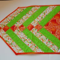 Summer Table runner . Patio Table runner . Mug Rug