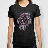 Neon Glow Lion (He)art T-shirt by Zany Du Designs