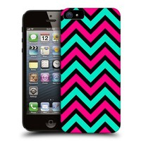 Head Case Neon Pink And Teal In Black Neon Chevron Back Case For Apple iPhone 5