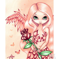 Pale Rose - an Angel Fairy Giclee Print by Jasmine Becket-Griffith at Art.com