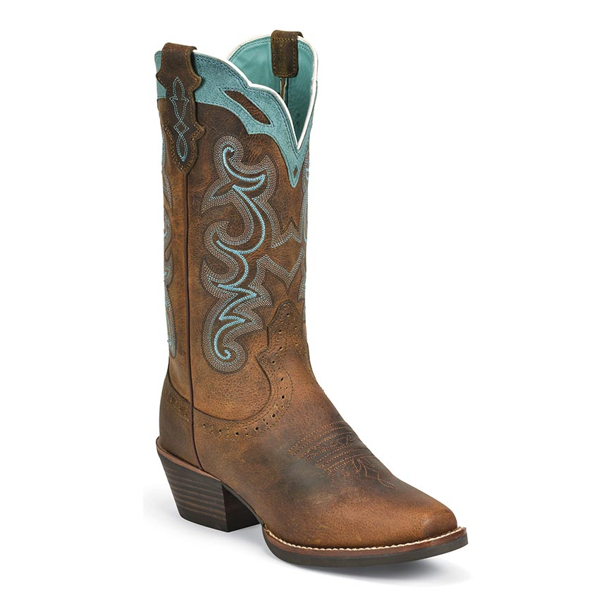 Justin Women's Rugged Tan Buffalo Western From Boot Barn