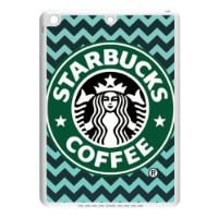 CTSLR Custom Starbucks Logo Protective TPU Case Cover Skin for iPad Air - 1 Pack - Black/White - 3
