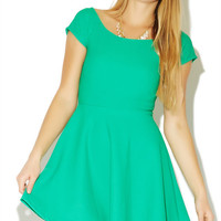 Textured Marilyn Skater Dress | Wet Seal