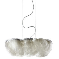 Nuvola 8 Light Oversize Luminous Cloud Pendant with Custom Fabric Diffuser and Inner Motor