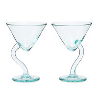 Twisted Martini Glasses - Set Of 2