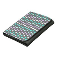 Polka Dots #2 - Grey Designer Wallet