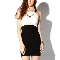 Papaya Clothing Online :: CONTRAST NECKLACE CUTOUT DRESS
