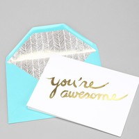Sugar Paper You're Awesome Card - Urban Outfitters