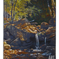 Thompson Cascade Wall Tapestry by Albert Bierstadt at Art.com