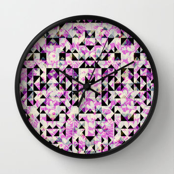 GEO FLORAL Wall Clock by Nika