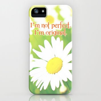 I'm not perfect. I'm original iPhone & iPod Case by Ylenia Pizzetti