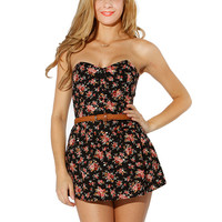 Papaya Clothing Online :: FLORAL BELT ROMPER