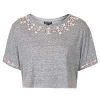 Diamante Necklace Tee