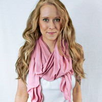 Mauve Pink Scarf Spring Fashion Infinity Traditional Pale Blush