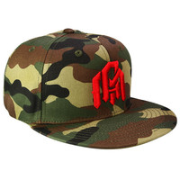 INTO THE AM Snapback - Camo/Red