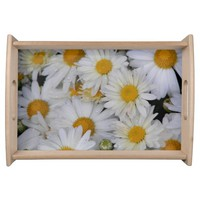 Dew-Kissed Daisies Serving Tray