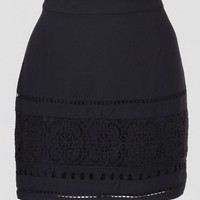 Natalia Crochet Detail Skirt