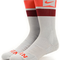 Nike SB Elite Dri-Fit Grey, Red, & Maroon Crew Socks