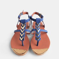 Panama City Embellished Sandals | Threadsence