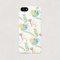 Cartoon Floral iPhone 4 4s 5 5s 5c Case