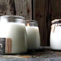 Soy Candle in Glass Apothecary Jar: 12 Ounces Fragrance & Unscented