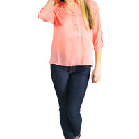 Pastel Passion Blouse - Coral