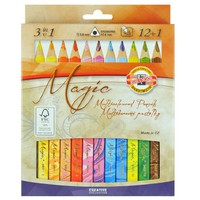 Koh-i-noor Triangular Magic Multicolored Pencils 3408 12