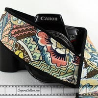 dSLR Camera Strap, Floral Abstract, 154