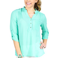 Pastel Passion Blouse - Mint