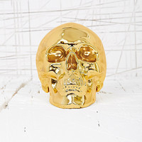 Skull Money Bank in Gold - Urban Outfitters