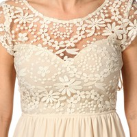 Natural Lace Babydoll Dress