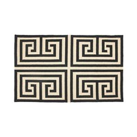Trina Turk Greek Key Hook Rug - Black