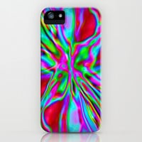 Colorfoil Radiates Red iPhone & iPod Case by Jan4insight