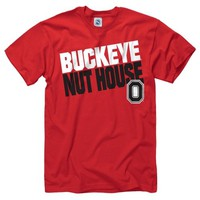 Ohio State Buckeyes Red ''Buckeye Nut House'' Slogan T-Shirt