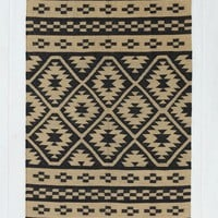 Magical Thinking Geo Rug- Black 4X6