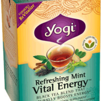 Yogi Tea Refreshing Mint Vital Energy™ | In Traditional Chinese Medicine, chi is the body's natural flow of energy. When chi gets 'stuck,' we may be left feeling tired and out of balance. Get your chi moving freely with a rejuvenating cup of Refreshing Min