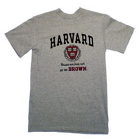 Champion Grey Harvard Tee | Brown Bookstore