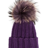 INVERNI | Cashmere and Fox Fur Beanie | Browns fashion & designer clothes & clothing